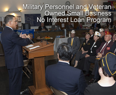 More Information on Military Personnel and Veteran Owned Small Business No Interest Loan Program